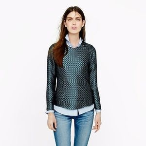 J Crew Collection Jade Foulard Silk Blouse Top 10